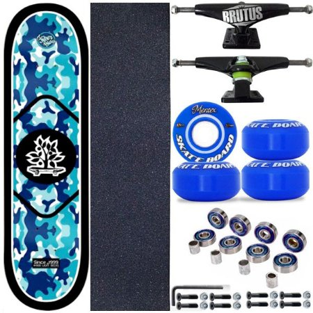 Skate Profissional Completo Shape Wood Light Blue 8.0