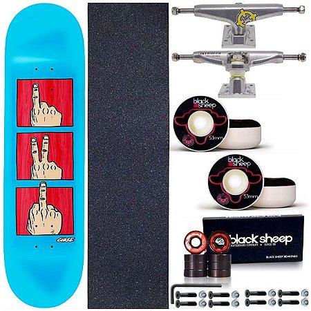 Skate Completo Shape Maple Chaze Revolution 8.0 Blue + Truck Intruder