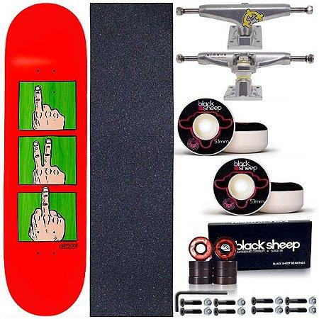Skate Completo Shape Maple Chaze Revolution Red 8.0 + Truck Intruder