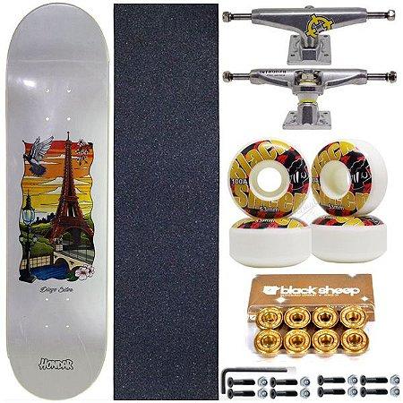 Skate Completo Shape Maple Hondar 8.0 Diogo Silva + Truck Intruder