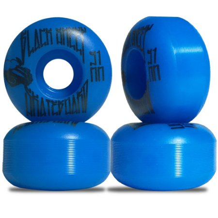 Roda para Skate Black Sheep Color Injetada 51mm Azul ( jogo 4 rodas )