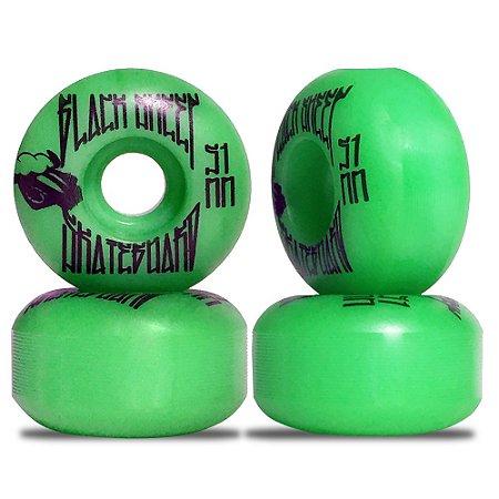 Roda para Skate Black Sheep Color Injetada 51mm Verde ( jogo 4 rodas )