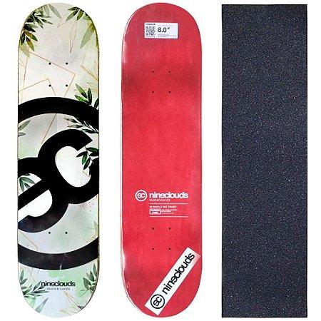Shape Profissional Maple Skate Nineclouds 8.0 Nature (Grátis Lixa Importada)