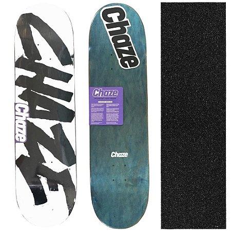 Shape Maple Chaze Skate Importado Logo 8.125 (Grátis Lixa Importada)