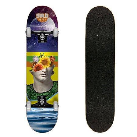 Skate Montado Solo Decks Semi Profissional Colagem 1