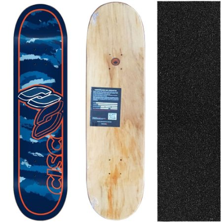 Shape Cisco Skate Marfim Camu Blue 8.0 + Lixa de brinde