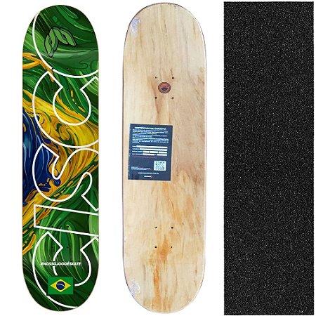 Shape Cisco Skate Marfim Braza 8.0 + Lixa de brinde