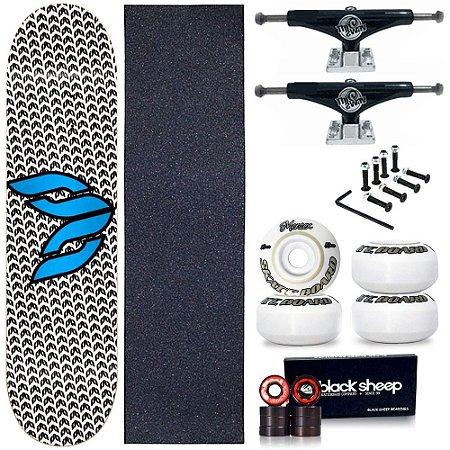 Skate Profissional Completo Shape Cisco Logo Blue 8.0 + Truck This Way