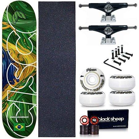 Skate Profissional Completo Shape Cisco Braza 8.0 + Truck This Way