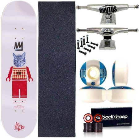 Skate Profissional Completo Shape Wood Light 8.0 Collab Iso Stencil