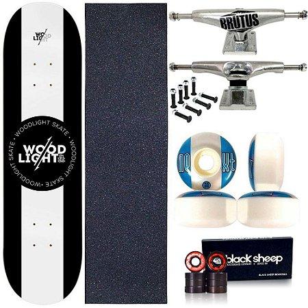 Skate Profissional Completo Shape Wood Light 8.0 White Center