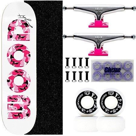 Skate Completo Shape Wood Light 8.0 Feminino Truck Intruder