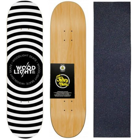 Shape de Skate Profissional Wood Light 8.0 Circle + Lixa de Brinde