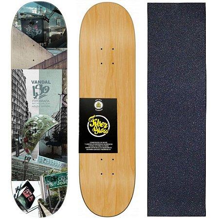Shape de Skate Profissional Wood Light 8.0 Collab Iso - Vandal + Lixa de Brinde