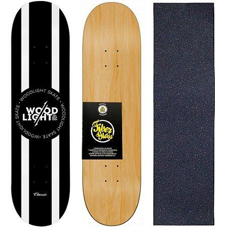 Shape de Skate Profissional Wood Light 8.0 Lines + Lixa de Brinde