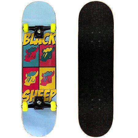 Skate Montado Black Sheep Semi Profissional 8.0 Art