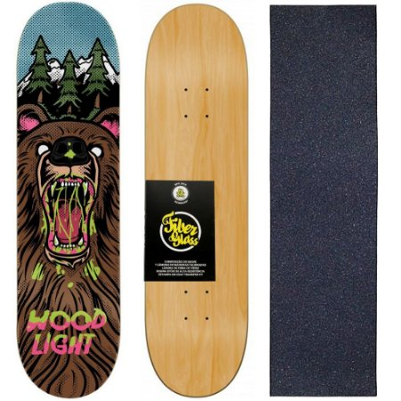 Shape de Skate Profissional Wood Light 8.0 Bear + Lixa de Brinde