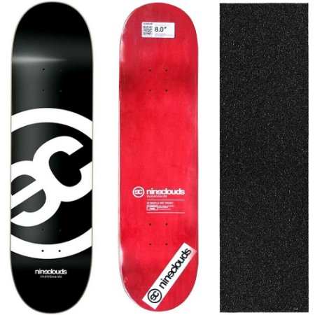 Shape Profissional Maple Skate Nineclouds 8.0 Blackout (Grátis Lixa Importada)
