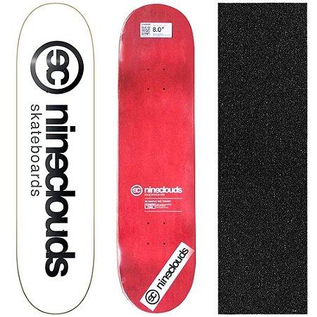 Shape Profissional Maple Skate Nineclouds 8.0 White (Grátis Lixa Importada)