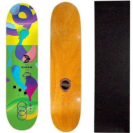 Shape Profissional Cisco Skate Green Color 8.125 + Lixa de Brinde