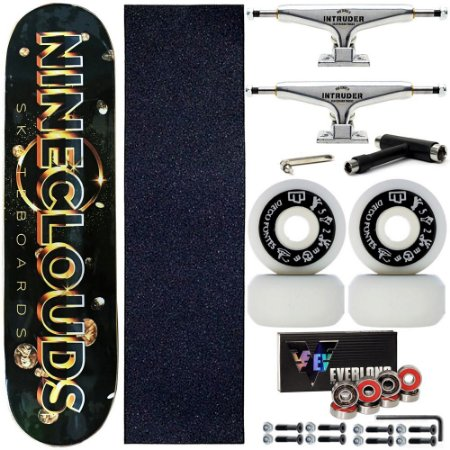 Skate Completo Maple Nineclouds 8.0 Space + Rodas Diego Fontes + Truck Intruder