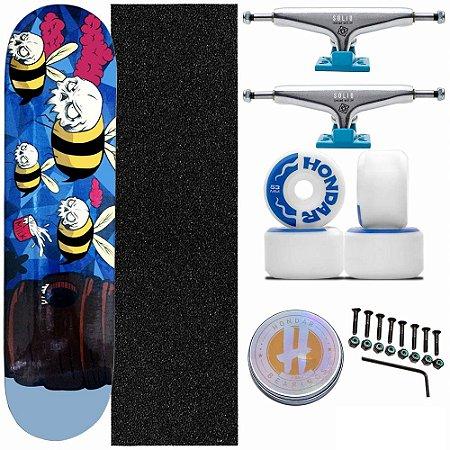 Skate Completo Maple Milk Skate Bee 8.0 + Truck Intruder + Rodas Hondar