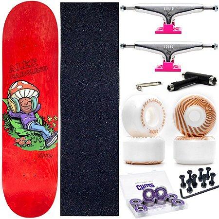 Skate Completo Maple Chaze Melow Alex Carolino + Roda Chaze + Truck Intruder