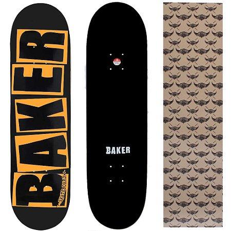 Shape Maple Importado Baker Brand 8.0 Black Escrito Laranja (Grátis lixa Jessup)
