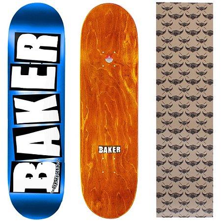 Shape Maple Importado Baker Brand 8.0 Foil Azul (Grátis lixa Jessup)