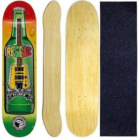 Shape Cisco Skate Marfim Reggae 8.0 + Lixa de brinde