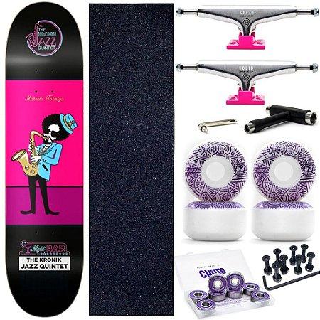 Skate Completo Maple Kronik Formiga Quintet 7.9 + Roda Chaze + Truck Intruder