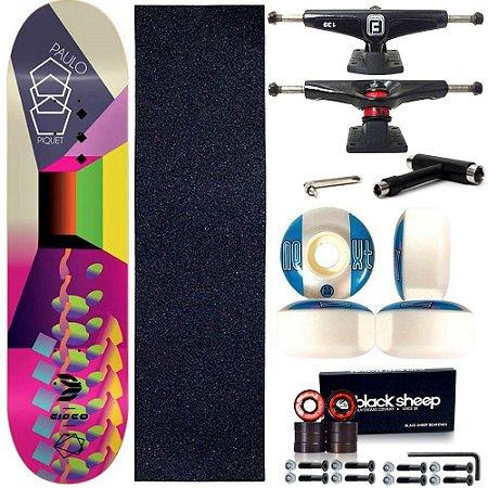 Skate Profissional Completo Shape Cisco Fiber Decks Psyco 8.0