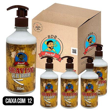 CAIXA COM 12 -  Shaving Gel de Barbear - 500mL