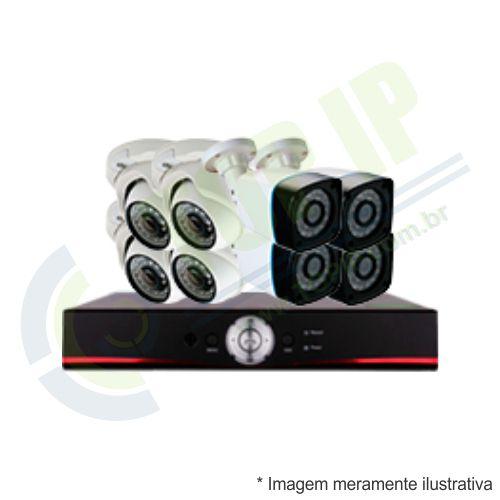 Kit CFTV 8 Câmeras (4 dome + 4 canhão) Anko + Dvr Stand Alone Jortan