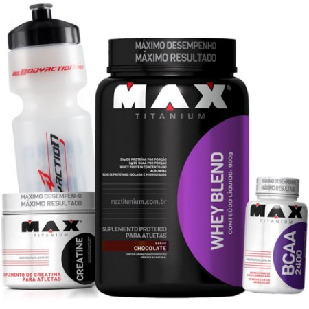 36d099f7c Kit Ganho de Massa Muscular - Max Titanium - Loja de Suplementos - Bogos