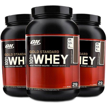 544d22f70 3x 100% Whey Protein Gold Standard (909g) - Optimum Nutrition - Loja ...