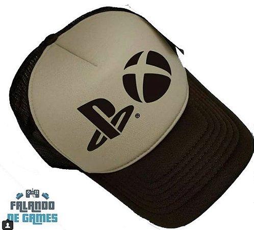 (Pré Venda) Boné estampa personalizada PS4 + Xbox One