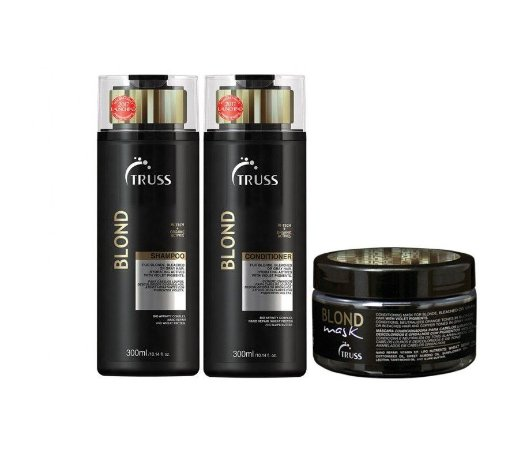 Kit Truss Blond - Shampoo + Condicionador + Blond Mask
