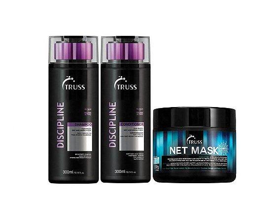 Kit Truss Discipline - Shampoo + Condicionador + Net Mask