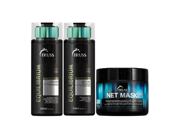 Kit Truss Equilibrium - Shampoo + Condicionador + Net Mask