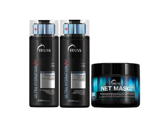 Kit Truss Ultra Hydration Plus - Shampoo + Condicionador + Net Mask