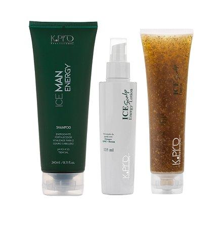 Kit K.Pro Ice - Shampoo + Loção + Esfoliante