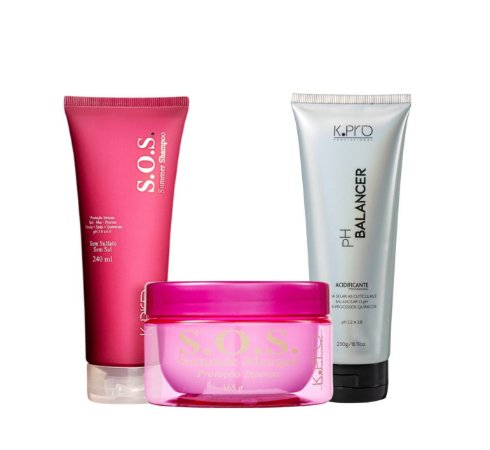 Kit K.Pro SOS Summer - Shampoo + Máscara + PH Balancer