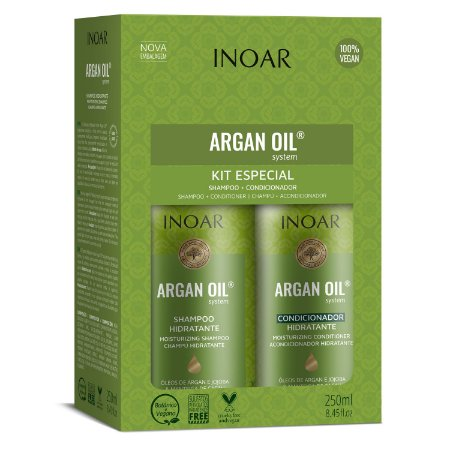 Inoar Kit Argan Oil - Shampoo e Condicionador 250ml