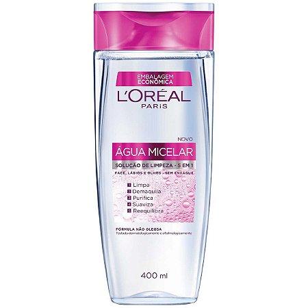 L'Oréal Paris Agua Micelar Solução de Limpeza 5 em 1, 400ml