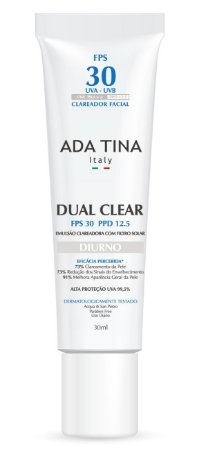 Ada Tina Dual Clear Diurno FPS 30 - Clareador 30ml
