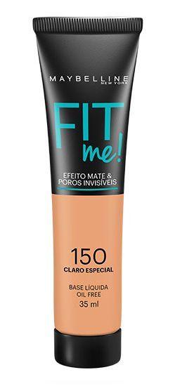 Maybelline Fit Me! Matte - Base Liquida, 150 Claro Especial 35ml
