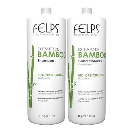 Felps Extrato de Bamboo - Kit Duo Plastificado 2x1000ml