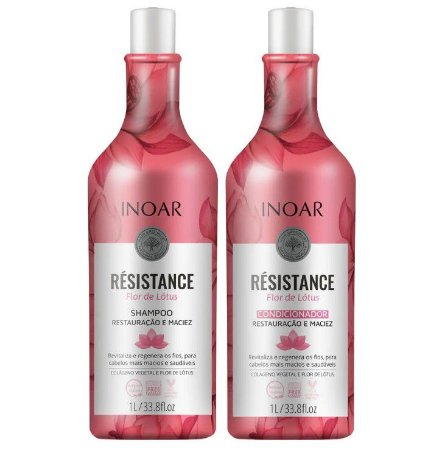 Inoar Kit Résistance Flor de Lotus - Shampoo e Condicionador 1000ml