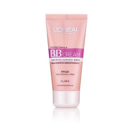 L'Oréal Paris Creme Milagroso 5 em 1 FPS 20 Clara - BB Cream 30ml